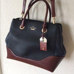 Kate Spade leather black/brown satchel